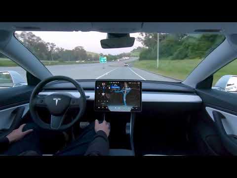 Tesla muestra cómo funciona la conducción autónoma del Model 3