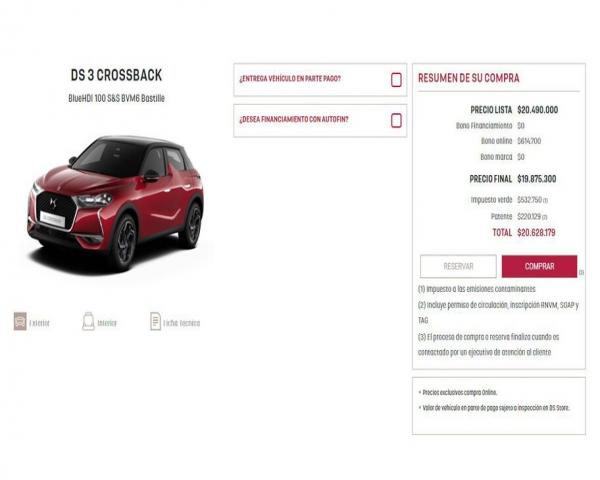DS Autom�viles presenta su plataforma de eCommerce en Chile